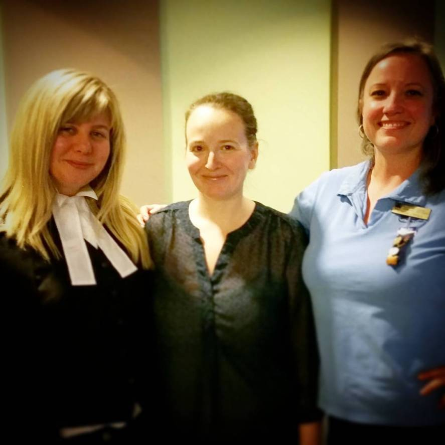 Fellow speaker, Sam who is a lawyer, myself, and our local Girl Guide leader