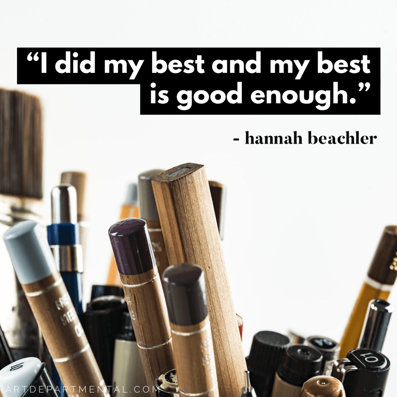 Hannah Beachler had the quote of the night at the Oscars about your best being good enough