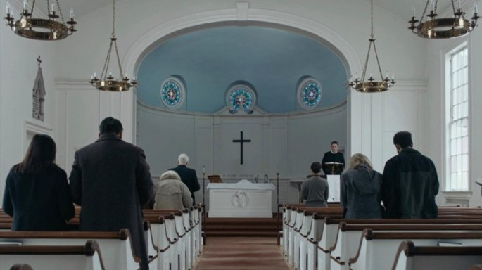 First Reformed- 2018 Film- Church wide shot- Best Production Design of 2018