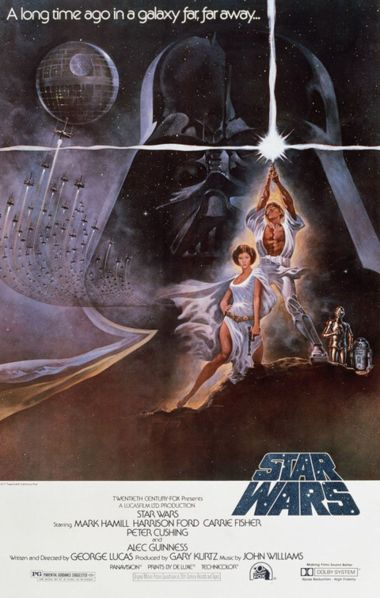 Star Wars A New Hope Movie Poster / movie poster design / movie poster artist