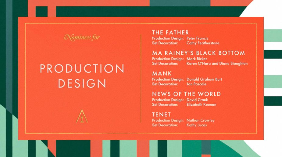 Best Production Design Oscar nominees