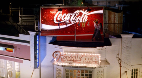 Ext. Kendall's Roof- Coca Cola Billboard Dance