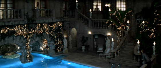Ext. Pool Courtyard- Capulet Mansion