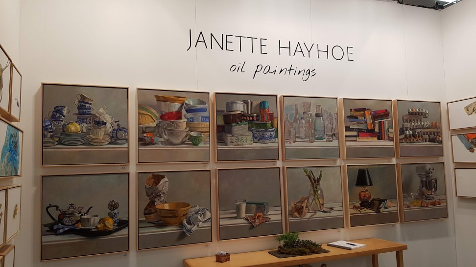 Artist Janette Hayhoe at The Artist Project