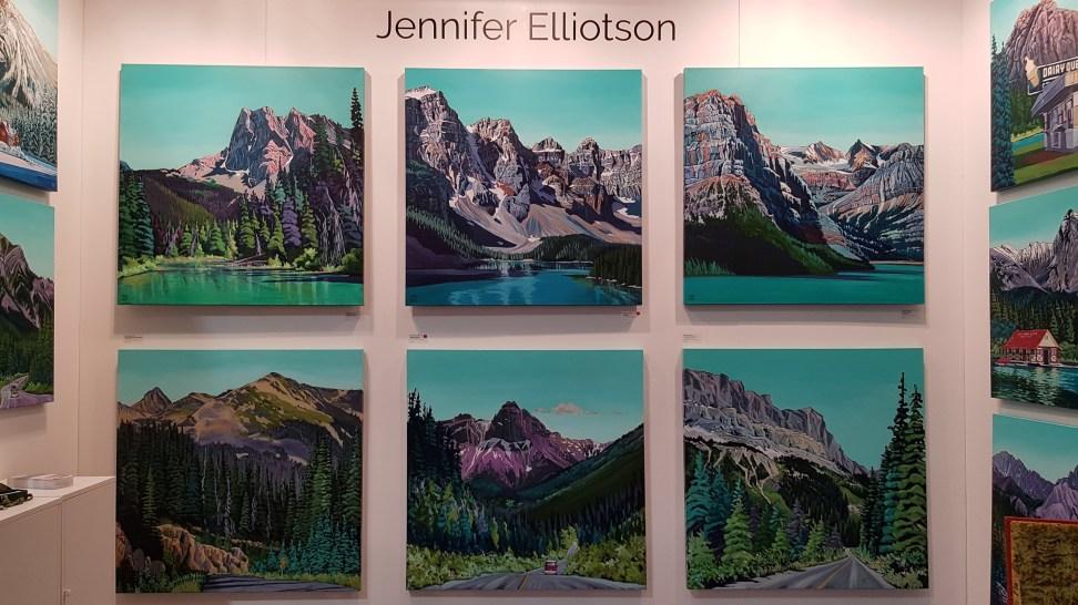 Artist Jennifer Elliotson at The Artist Project 2019