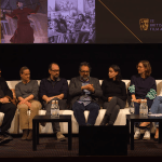 Production designers Nathan Crowley, John Myhre, Fiona Crombie, and Eugenio Caballero at the 2019 BAFTA Production Design Panel