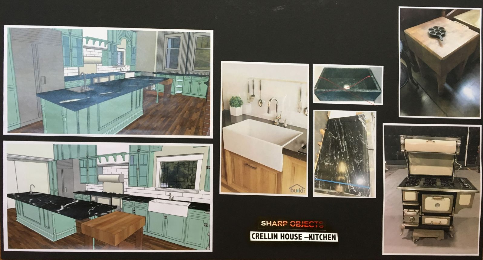 Sharp Objects | Crellin House Moodboard | HBO