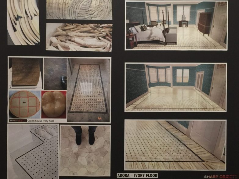 Sharp Objects | Ivory Tile Floor in Adora's Bedroom Moodboard | HBO