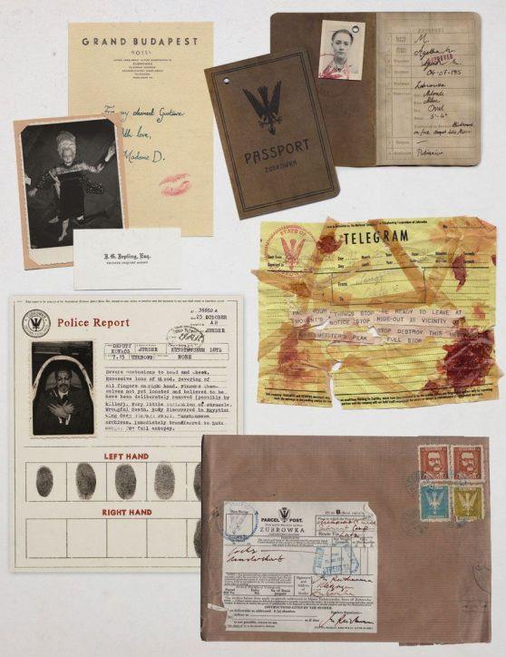 Grand Budapest Hotel Graphic Props