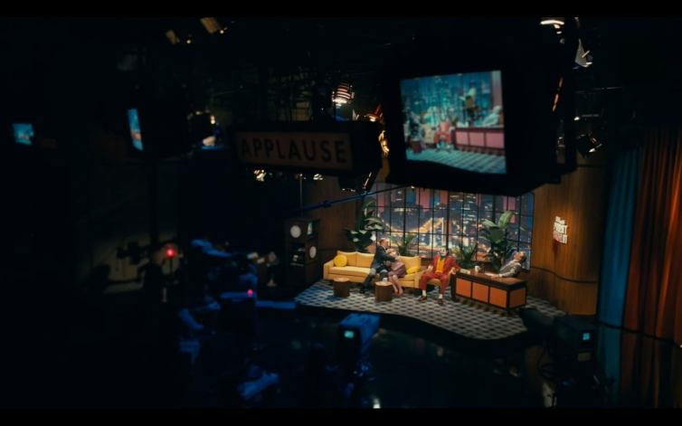 Joker talk show set
