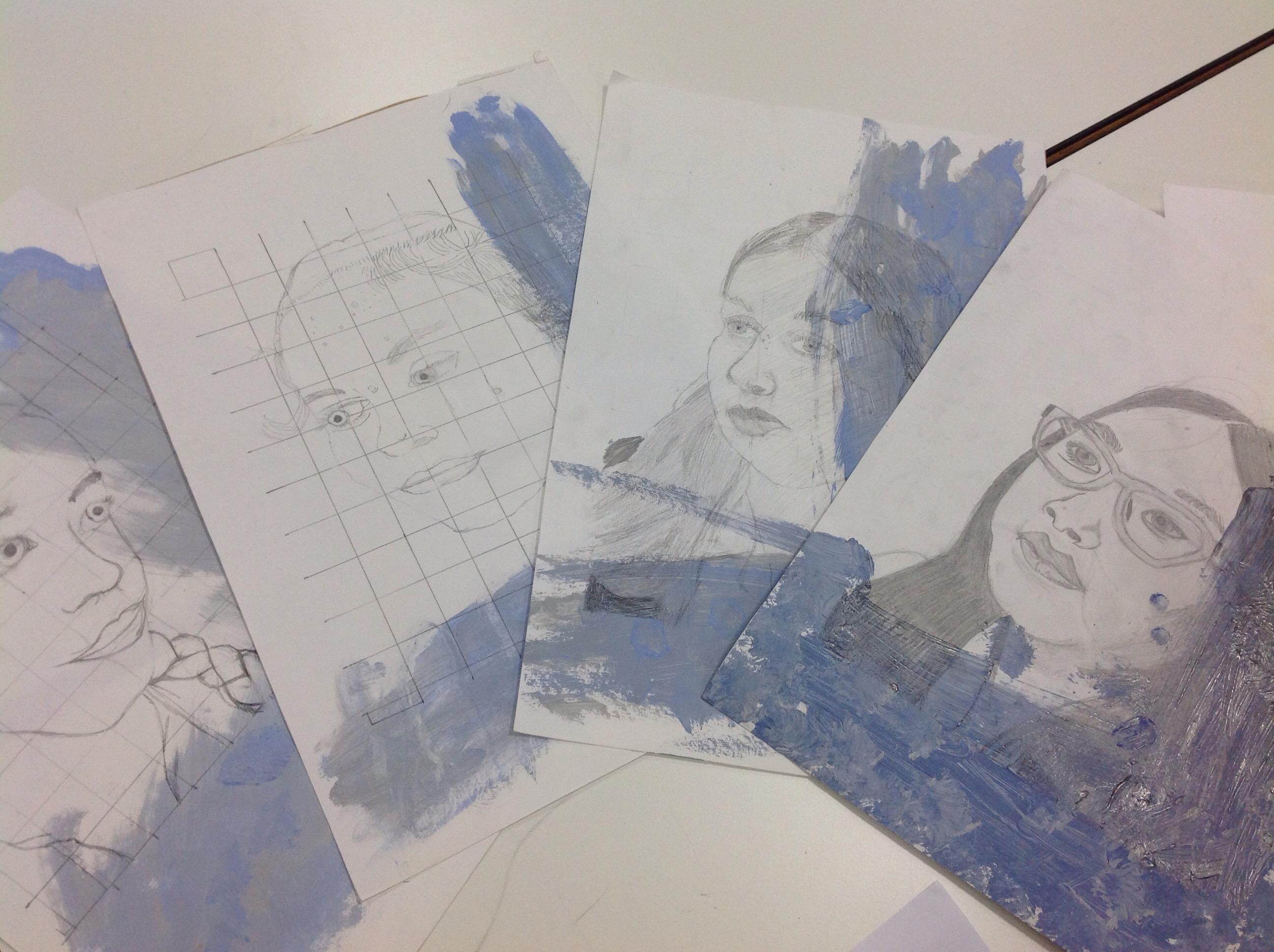 Ks3 Grid Method Art Well Done 7g Bolton School Girls