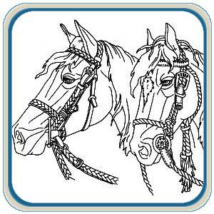 Western Horses Scene Mantel Pattern Package
