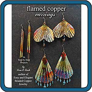 Flamed Copper Earrings by Lora S. Irish