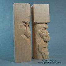 Free Wood Spirit Carving Project by Lora Irish