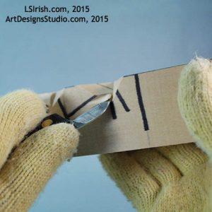 bench knife stop cut