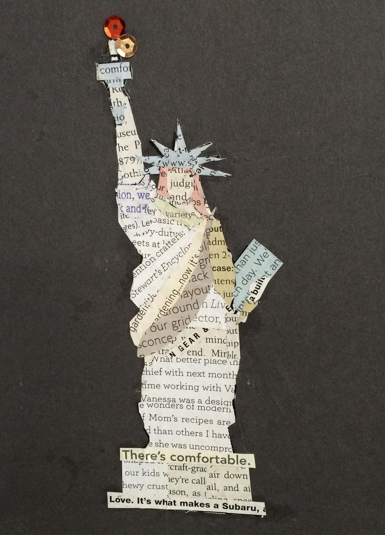 Packet 6 Liberty Enlightening The World Evergreen Art