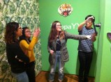 Students amused by interactive photo booth