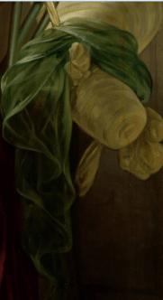 Jan Adam Kruseman, Portrait of Alida Christina Assink, 1833. Detail
