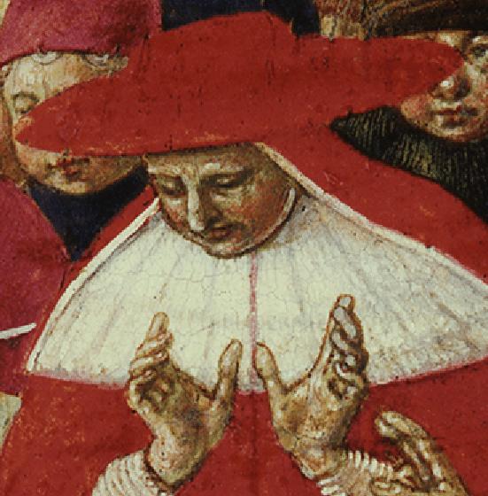 Benozzo Gozzoli, San Domenico resuscita Napoleone Orsini, 1461. Detail
