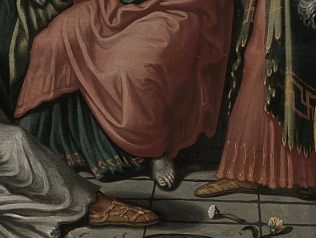 Pieter Aertsen, Christ in the House of Martha and Mary, 1553. Detail