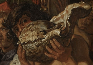 Pieter Lastman, Orestes and Pylades Disputing at the Altar, 1614. Detail