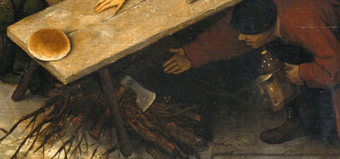 Pieter Bruegel the Elder, Netherlandish Proverbs, 1559. Detail
