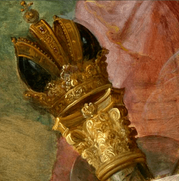 Allegory on the Abdication of Emperor Charles V in Brussels. Detail