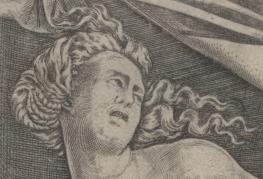 1515, Agostino Veneziano, Cleopatra, Metropolitan Museum of Art, New York. Detail
