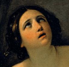 1635-40, Guido Reni, Cleopatra, Galleria Palatina (Palazzo Pitti), Florence. Detail