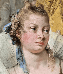 1744, Giovanni Battista Tiepolo, The Banquet of Cleopatra, National Gallery of Victoria, Melbourne. Detail
