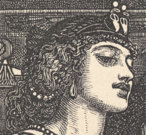 1866, Dalziel Brothers, Cleopatra, National Gallery of Victoria, Melbourne. Detail