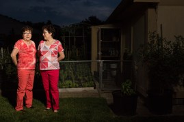 Neighborhood Series, Gianna and Rina, Macomb, 2015