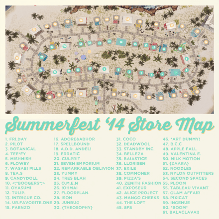 Summerfest '14 Official Store Map