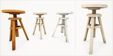 retrograde. (stool set)