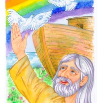 Illustration - Biblical stories, watercolor