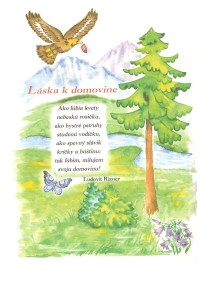 Illustration - Spelling book Lipka - 2004, watercolor