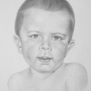 Portrait of the Boy, 70x50 cm, pencil drawing