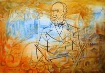Dobšinsky, 70x100 cm, akvarel, akryl, plátno