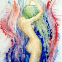 Eva, 70x50 cm, combined technique (watercolor, pencil)