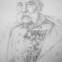 Franz Josef, 70x50 cm, pencil drawing