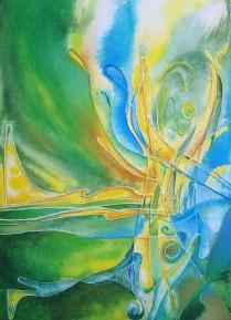Trumpet, 2009, 70x50cm, Acryl, canvas, cardboard