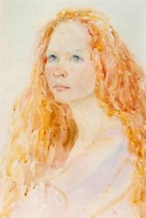 Portrait, water colour
