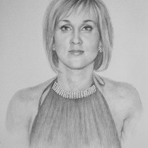 Woman's Portrait, 70x50 cm, pencil drawing