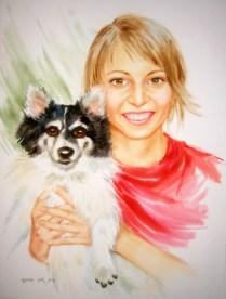 Portrait, 70x50cm, water colour