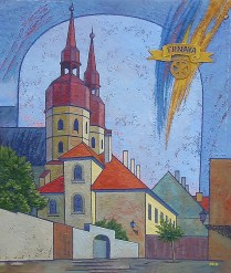 SOLD / Church of St Michael. 60x55, oil, canvas on cardboard