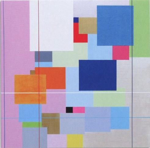 MARCO CASENTINI - La stanza di Giulia, 2008, acrilico su tela, 96x96cm