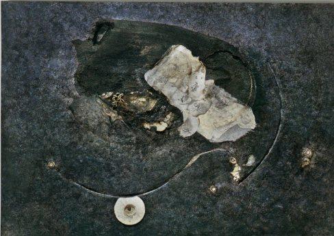 GABRIELLA BENEDINI - Le ore della notte, 2001, tecnica mista su tavaola, 70x100cm