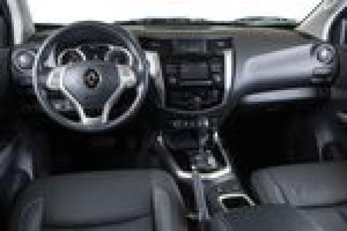 Así será el interior de la Alaskan. Foto: Renault.