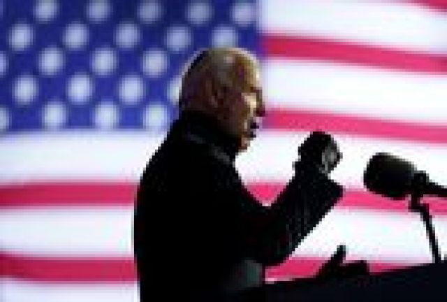 Joe Biden cerró su campaña en Pittsburgh, Pensilvania.