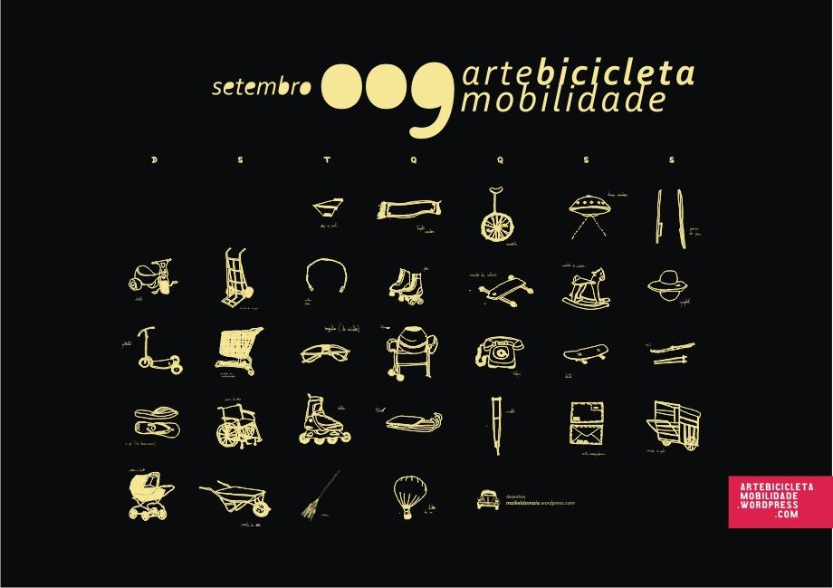 Cartaz Arte Bicicleta Mobilidade 009